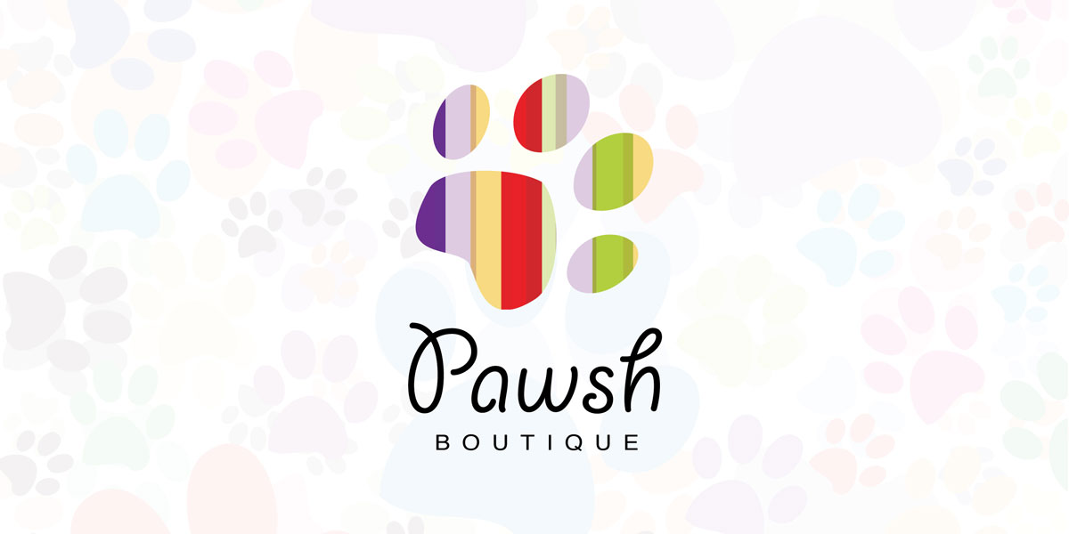 Pawsh Boutique Logo Design
